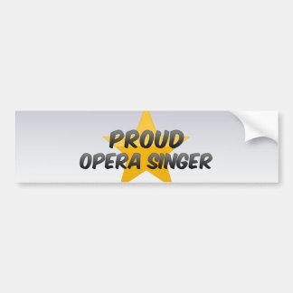 Proud Opera Singer Bumper Sticker