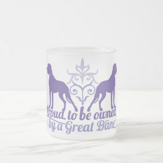 Proud owned by A great dane PUR-polarizes Frosted Glass Coffee Mug
