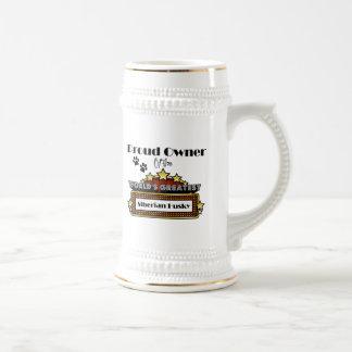 Proud Owner World's Greatest Siberian Husky Beer Stein