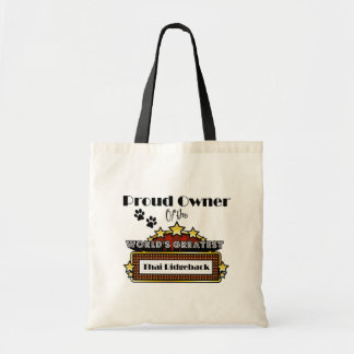Proud Owner World's Greatest Thai Ridgeback Canvas Bags