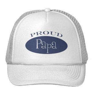 proud papa trucker hats