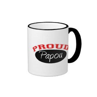 Proud Papou Ringer Mug