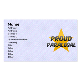 Proud Paralegal Pack Of Standard Business Cards