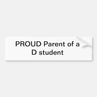 "PROUD PARENT bumper sticker ""FUNNY"""