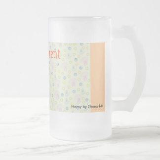 Proud Parent Mag a delicate design light orange Frosted Glass Beer Mug