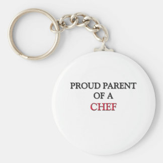 Proud Parent Of A CHEF Basic Round Button Key Ring