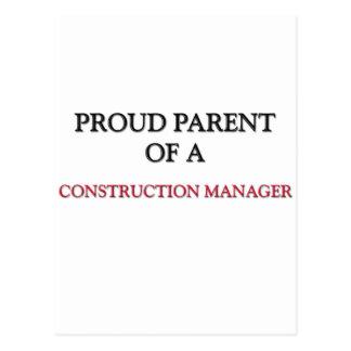 Proud Parent Of A CONSTRUCTION MANAGER Postcard