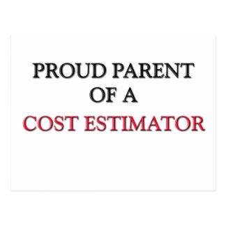 Proud Parent Of A COST ESTIMATOR Postcard