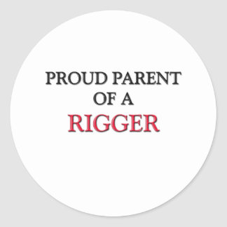 Proud Parent Of A RIGGER Stickers
