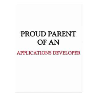 Proud Parent OF AN APPLICATIONS DEVELOPER Postcard