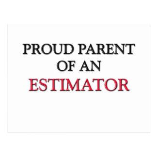 Proud Parent OF AN ESTIMATOR Postcard