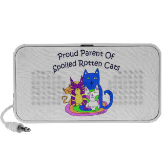 Proud Parent Of Spoiled Rotten Cats Travel Speaker