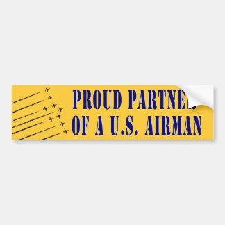 Proud Partner of an Airman Bumper Sticker