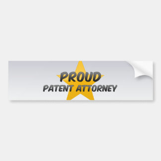 Proud Patent Attorney Bumper Sticker