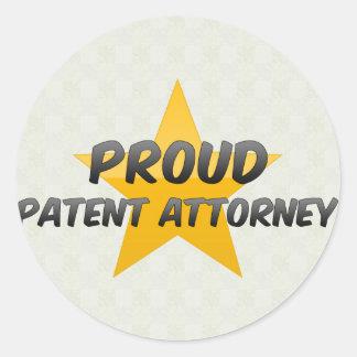 Proud Patent Attorney Round Sticker