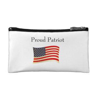 Proud Patriot American Flag Design Makeup Bags