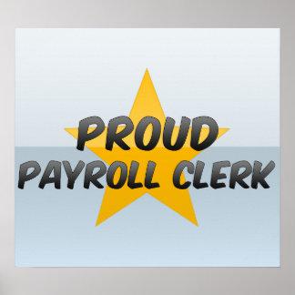 Proud Payroll Clerk Poster