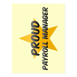 Proud Payroll Manager Postcard