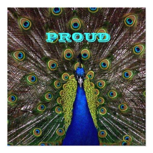 PROUD Peacock GRADUATION Invitation