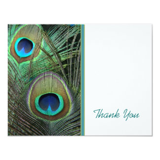 Proud Peacock Thank You Card 11 Cm X 14 Cm Invitation Card