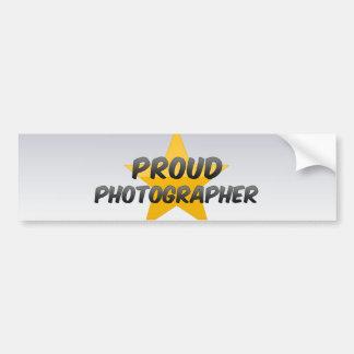 Proud Photographer Bumper Sticker