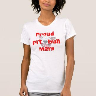 proud pit bull mom dog lover t-shirt design