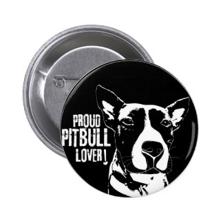 PROUD PITBULL LOVER BUTTON