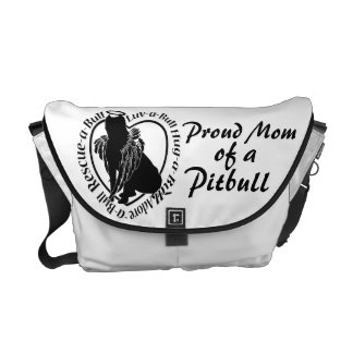 Proud Pitbull Mom Courier Bag
