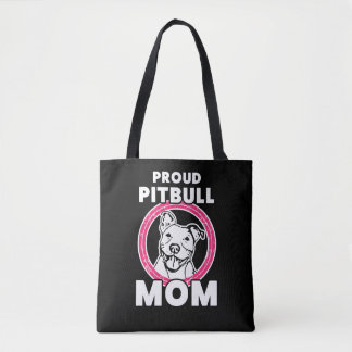 Proud Pitbull Mom Saying Bag for Women - PInk