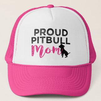 Proud Pitbull Mom trucker hat