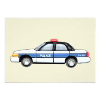 Proud Police Car 13 Cm X 18 Cm Invitation Card