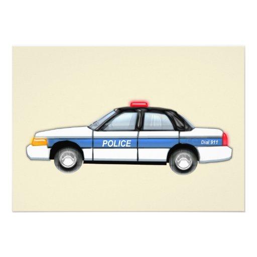 Proud Police Car Announcement
