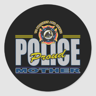 Proud Police Mother Round Sticker