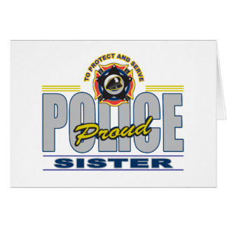 Proud Police Sister Card