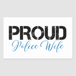Proud Police Wife Rectangular Sticker