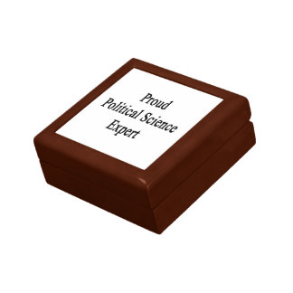 Proud Political Science Expert Jewelry Box