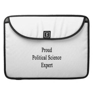 Proud Political Science Expert MacBook Pro Sleeves