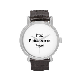 Proud Political Science Expert Wrist Watches