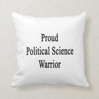 Proud Political Science Warrior Throw Cushion