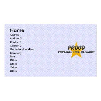 Proud Portable Tool Mechanic Business Card Template