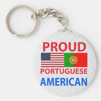 Proud Portuguese American Key Ring