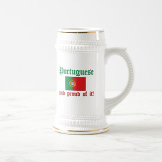 Proud Portuguese 18 Oz Beer Stein