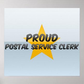 Proud Postal Service Clerk Poster