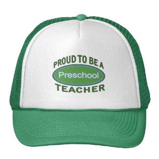 Proud Preschool Teacher Cap