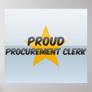 Proud Procurement Clerk Print