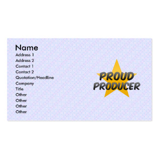 Proud Producer Business Cards