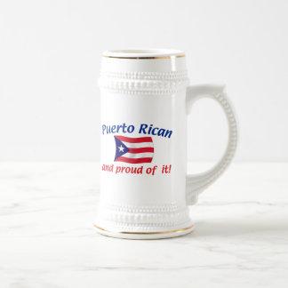 Proud Puerto Rican Beer Stein