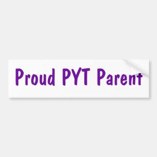 Proud PYT Parent bumper sticker