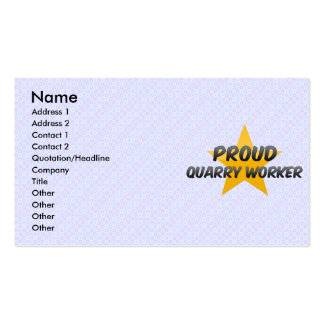 Proud Quarry Worker Business Card