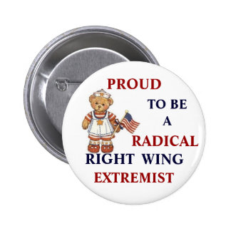 Proud Radical Right Wing Extremist 6 Cm Round Badge